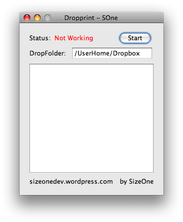 Dropprint Window